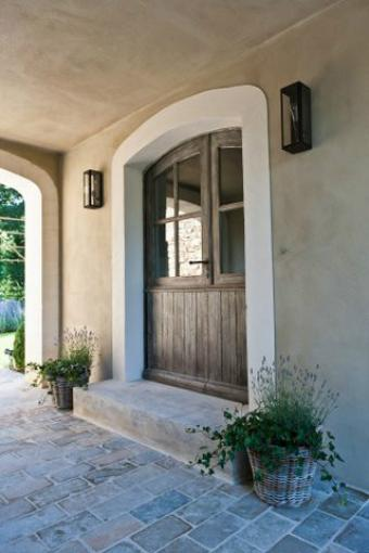 Arched french door with patina simple and moderne this for Fenetre decorative