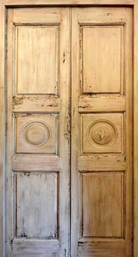 Decorative 3 Pannel Door Old Lime Wood Interior Doors