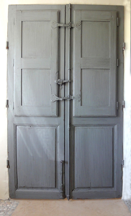 French Door With Folding Shutters Interior Doors Portes Antiques
