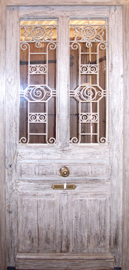 Oak Front Door With Wrought Iron Grills Front Doors