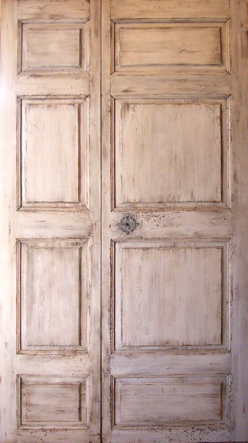Panneled double doors 18th century interior doors for 18 door