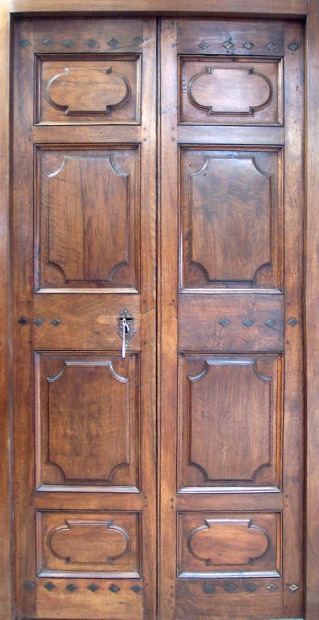 Double doors Louis XIV period in wallnut & Double doors Louis XIV period in wallnut Interior doors . Portes ...