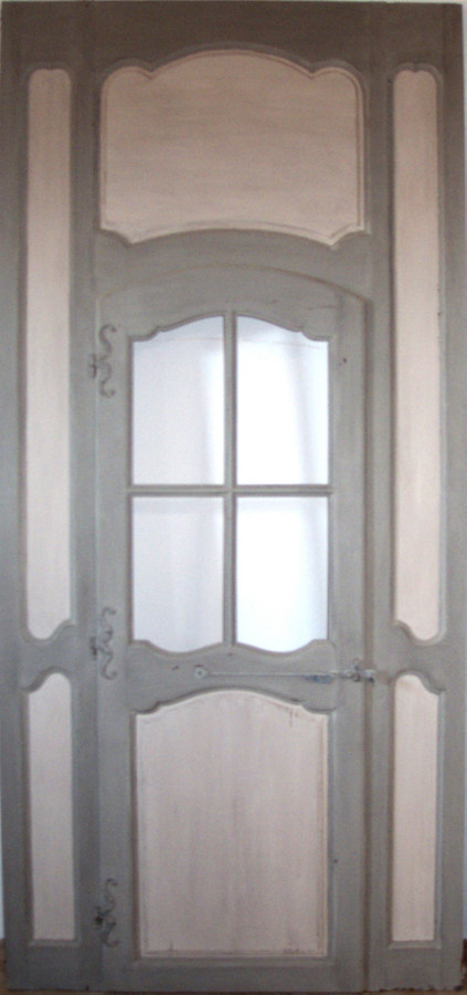 Panneling and french door regency period interior doors for Porte in french