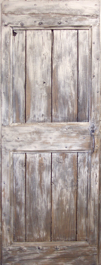 Wonderful Old Oak Plank And Frame Barn Door