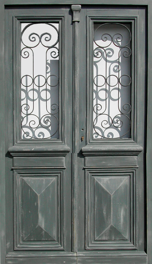 double leaf glazed entrance door willforged iron front doors portes antiques. Black Bedroom Furniture Sets. Home Design Ideas