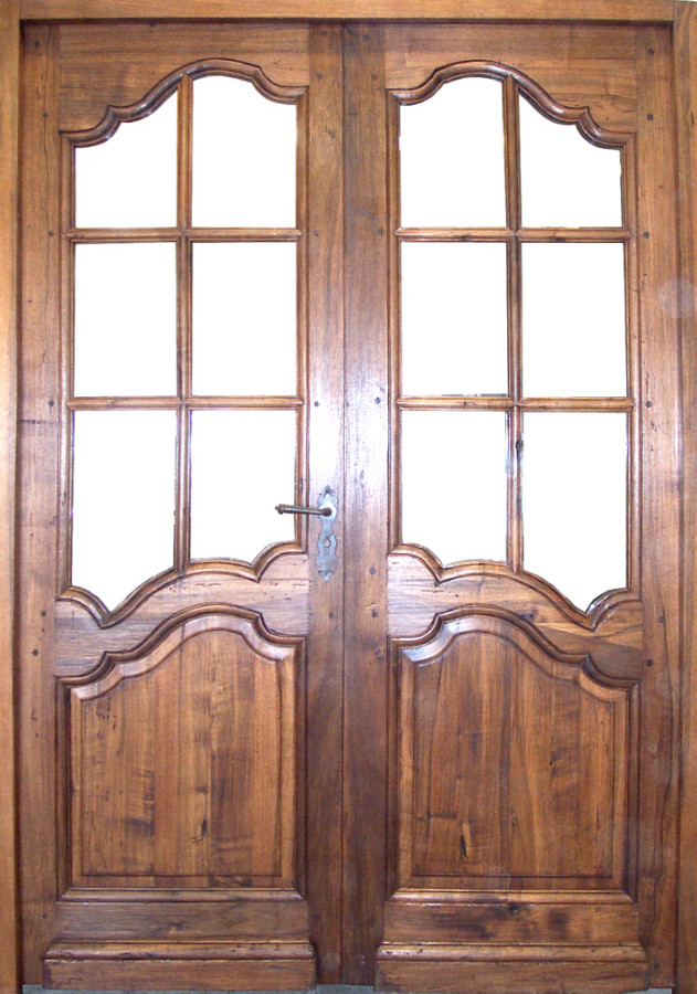 Louis xv style french door interior doors portes antiques for Porte fenetre