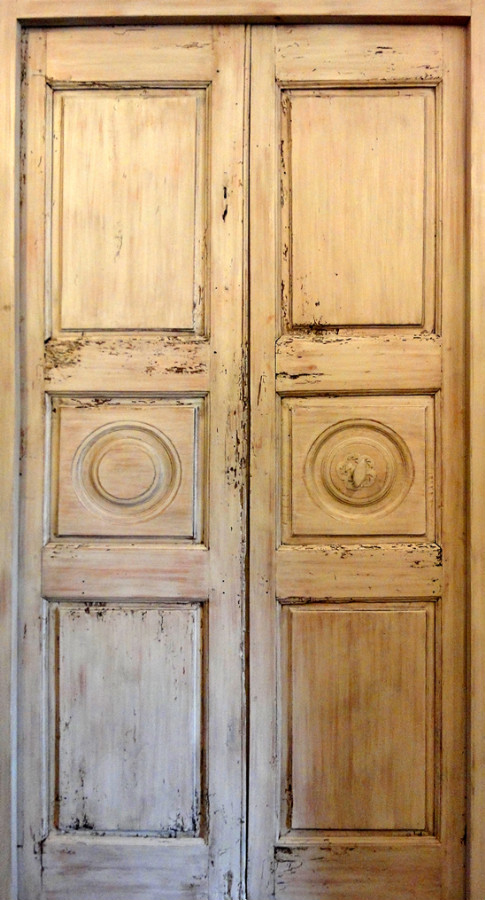 Decorative 3 Pannel Door Interior Doors Portes Antiques