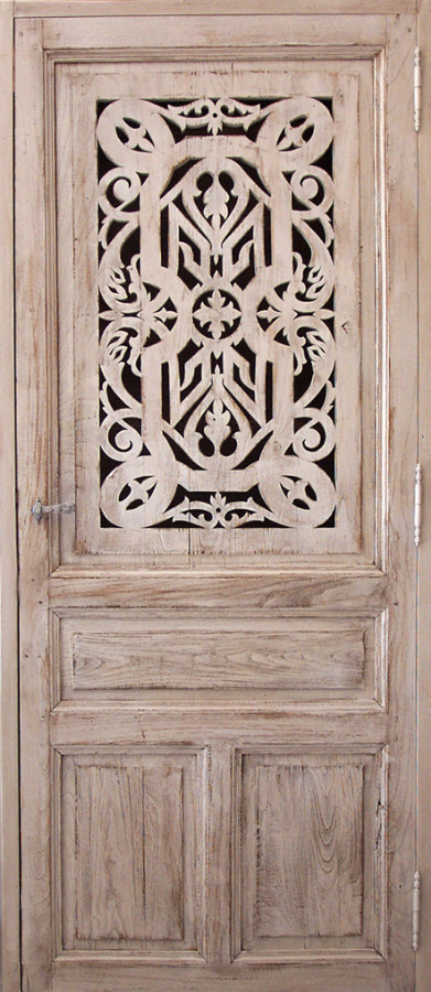 fretted decorative door interior doors portes antiques. Black Bedroom Furniture Sets. Home Design Ideas