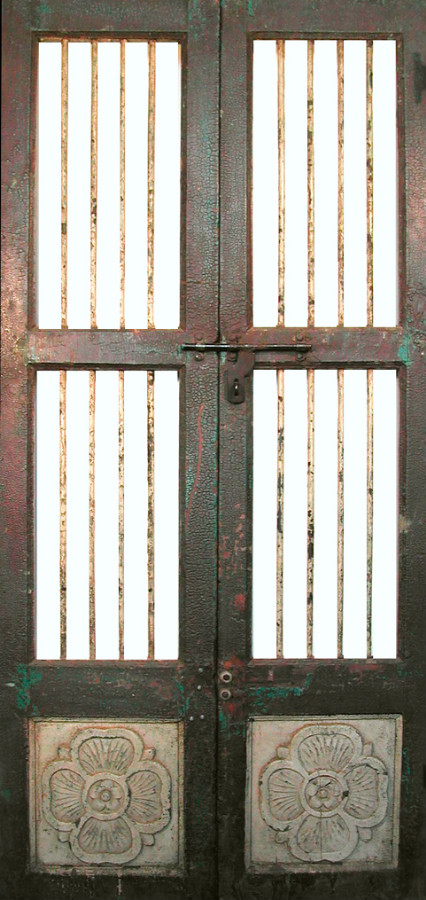Indian doors with bars & Decorative cupboard doors Asian decorative facings and partitions ... Pezcame.Com